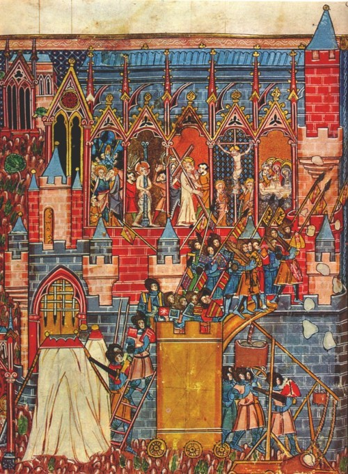 The siege of Jerusalem, 1099, from Wikimedia Commons