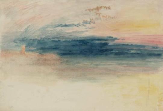 J.M.W. Turner, 'Sunrise, perhaps at Margate' (c.1840–5), from tate.org.uk