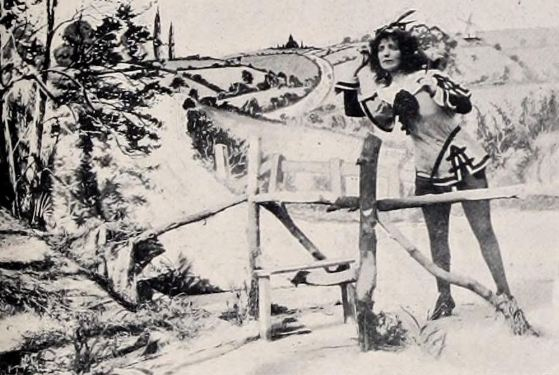 A still from Dorothy's Dream (1903), made by George Albert Smith and starring his wife Laura Bayley (here as Dick Whittington). Urban distributed Smith's films