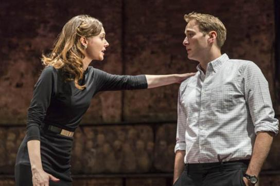 Lydia Wilson as Kate and Oliver Chris as William, photo by Johan Persson