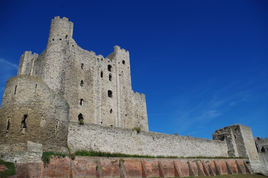 Rochester castle, with its round southern tower