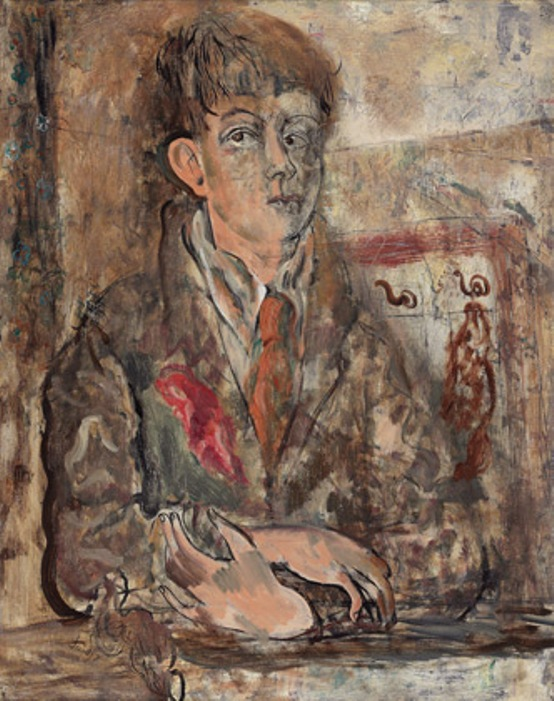 David Jones, Human Being, 1931 [a self-portrait] © Trustees of the David Jones Estate