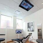 American dental office with ceiling TV, from http://gentledentistatlanta.com