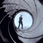 The view down a gun barrel from the title sequence to Dr No