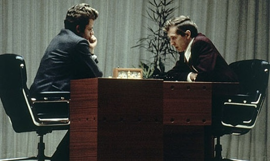 Bobby Fischer vs Boris Spassky in 1972 (via guardian.com)