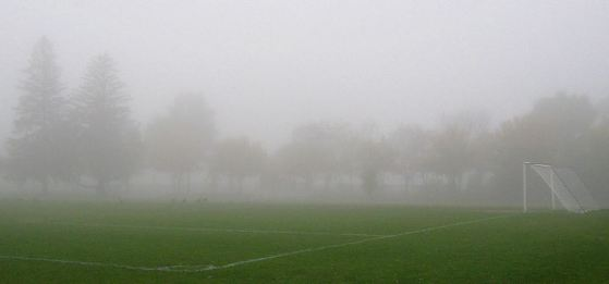 Fog on a football field, from https://flic.kr/p/5pA9EW