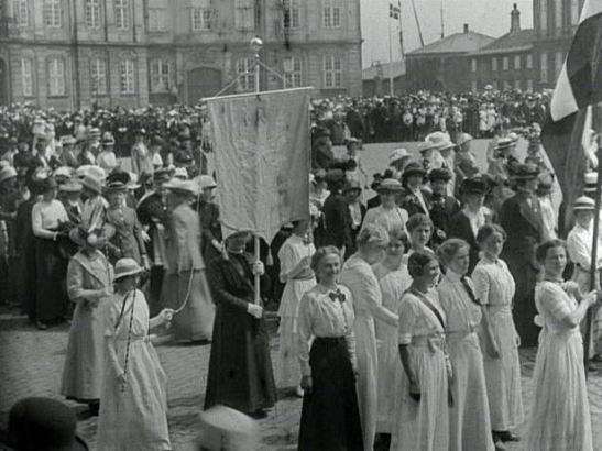 Grundloven 1915, by Julie Laurberg and Franziska Gad, from www.dfi.dk