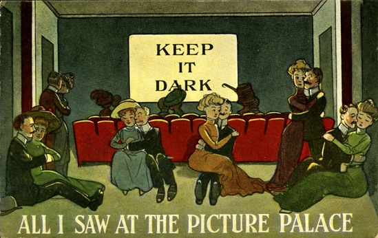 'All I saw at the Picture Palace', postcard c.1910, from the Nicholas Hiley collection