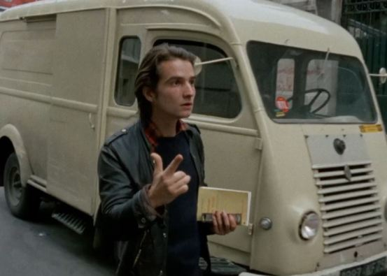 Jean-Pierre Léaud, clutching his copy of Balzac