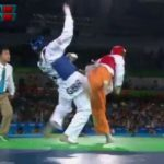 The living moment: the  final second in which Lutalo Muhammad lost 80kg taekwondo final to Cheick Sallah Cisse