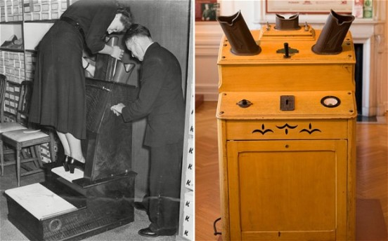 An X-ray device used for shoe fitting (via http://www.telegraph.co.uk)