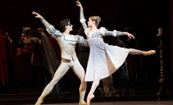 Guillaume Côté and Heather Ogden in the National Ballet of Canada's Romeo and Juliet, 2013, from https://www.theguardian.com