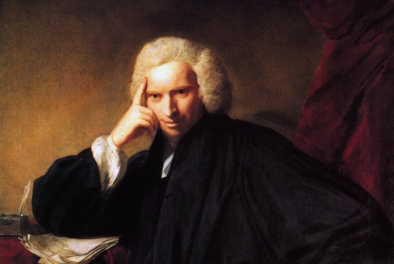 Portrait of Laurence Sterne (detail) by Joshua Reynolds (1760), National Portrait Gallery