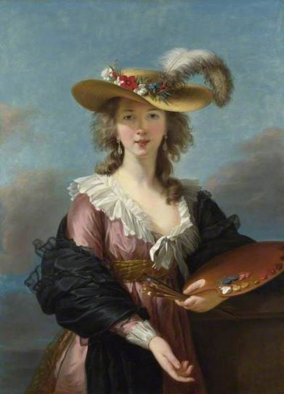 Elisabeth Vigée LeBrun, 'Self Portrait in a Straw Hat', c.1782, National Gallery, London
