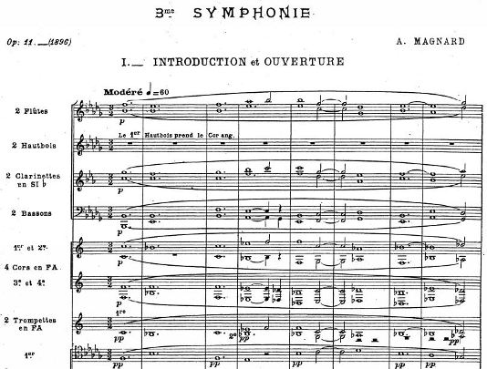 The grand opening to the third symphony, via musicologie.org