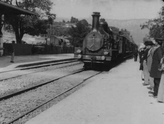 Arrivée d'un train à La Ciotat (1897), filmed by Louis Lumière
