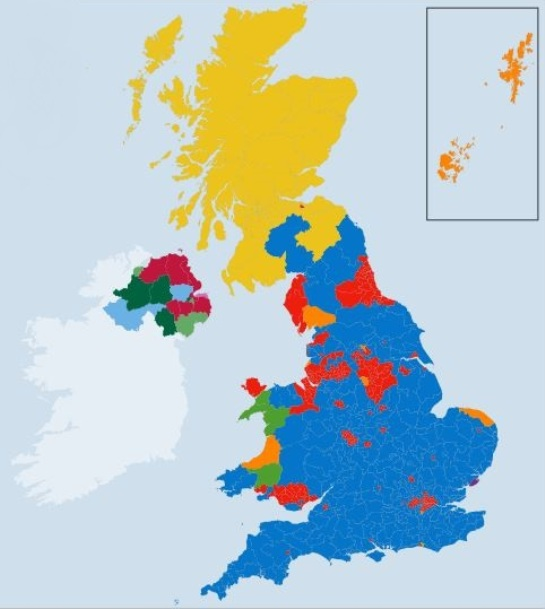 The UK 2015 general election map