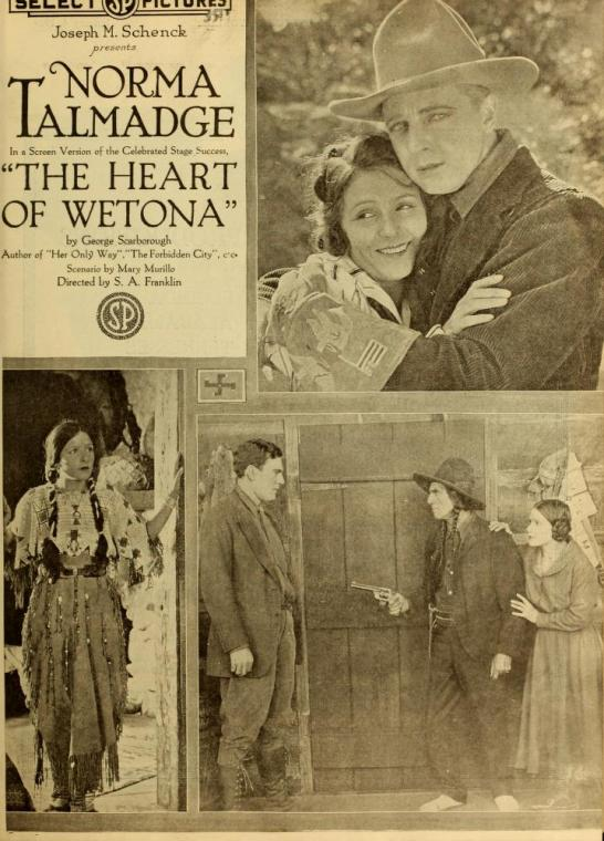 Advertisement for The Heart of Wetona, scripted by Mary Murillo, Moving Picture World, 4 January 1919, via Media History Digital Project