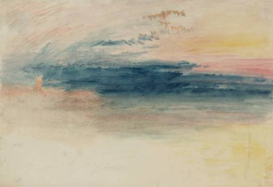 J.M.W. Turner, 'Sunrise, perhaps at Margate' (c.1840–5), from tate.org.uk