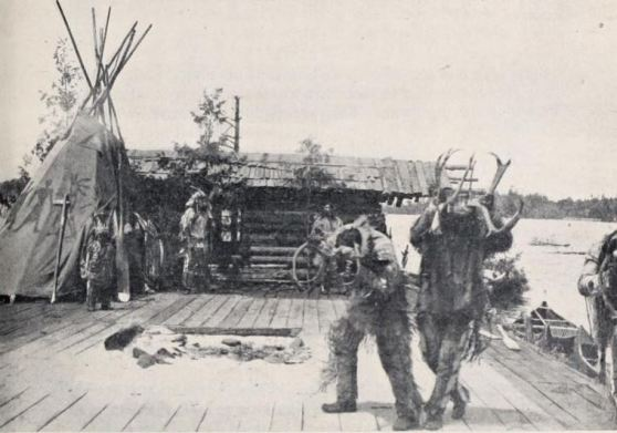 'Participants of the Elk Dance'. Still from Hiawatha (UK 1903 p.c. Charles Urban Trading Company), filmed by Joe Rosenthal in Canada, enacted by members of the Ojibwa people