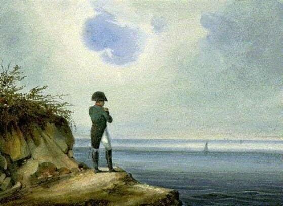 'Napoléon à Sainte-Hélène' by Francois-Joseph Sandmann, via Wikipedia