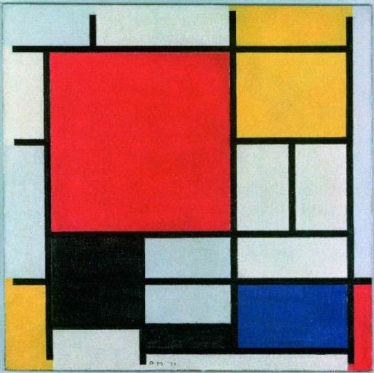 Piet Mondrian, Composition with Large Red Plane, Yellow, Black, Gray and Blue (1921)