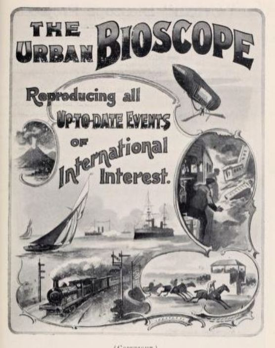 Poster advertising film shows using the Urban Bioscope projector