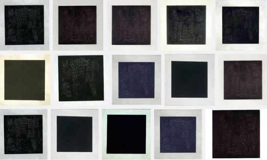 Some of the results of a Google image search for 'Malevich black square 1915'