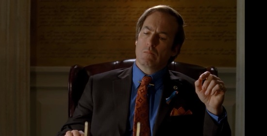 Bob Odenkirk as lawyer Saul Goodman