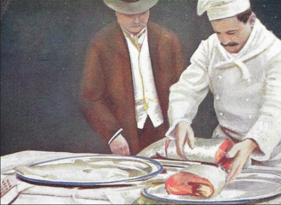 The Chef's Preparations (1910), at the Florence restaurant in Soho