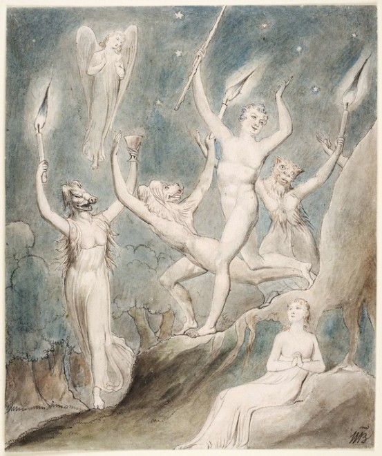 William Blake's 'Comus with his Revellers' (1815), from http://www.blakearchive.org