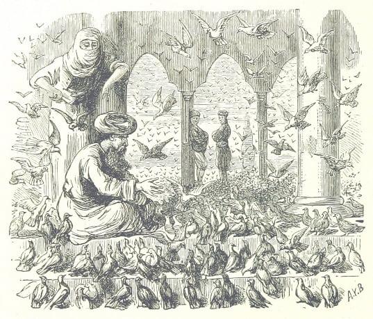 """Image from  """"Auf biblischen Pfaden. Reisebilder aus Aegypten, Palästina, Syrien, Kleinasien, Griechenland und der Türkei."""", available at http://www.flickr.com/photos/britishlibrary/11307115806, catalogue record with PDF of full volume here"""