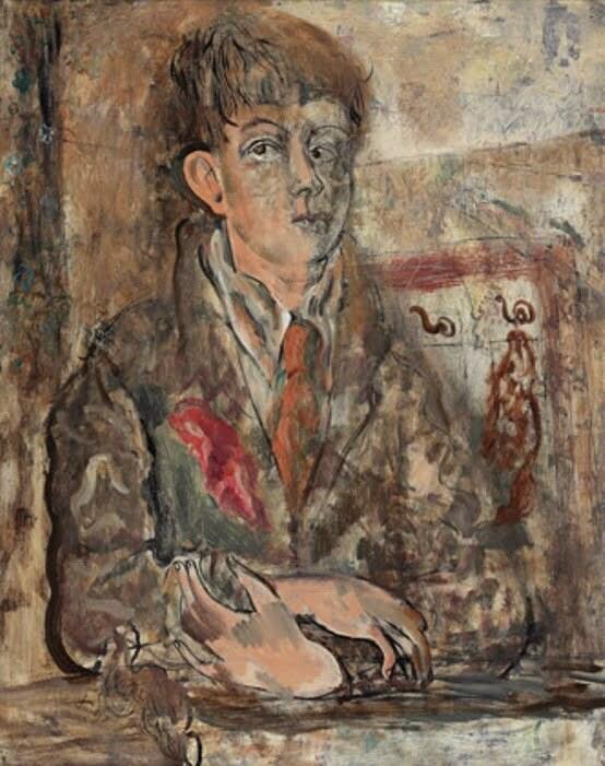 David Jones, Human Being, 1931 [a self-portrait] © Trustees of the David Jones Estate