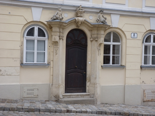The doorway in Schreyvogelgasse, Vienna, where Harry Lime makes his dramatic appearance