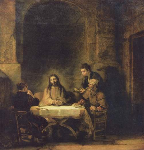 Rembrandt's Christ at Emmaus