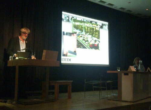Bill Thompson speaking at the FIAT/IFTA conference, British Library