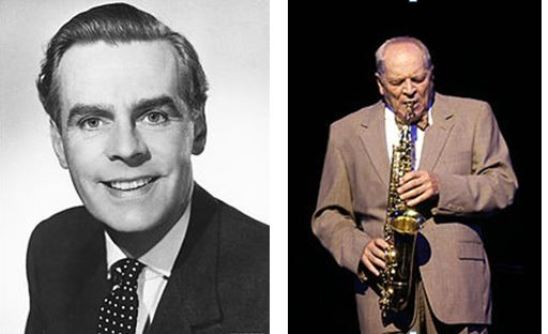 Ian Carmichael (left) and Johnny Dankworth, both images via Wikipedia