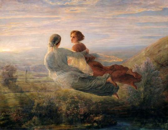 Louis Janmot, 'Le Vol de l'âme' (image reversed as it is on the cover of the EMI Classics collection of the collected Magnard symphonies)