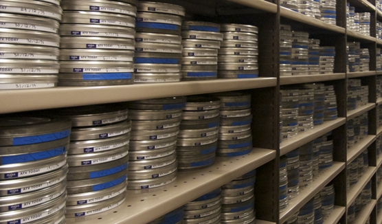 Film cans (Media Archive for Central England)
