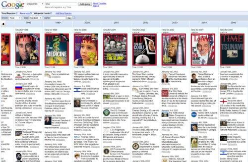 Google News Timeline, from www.pcworld.com