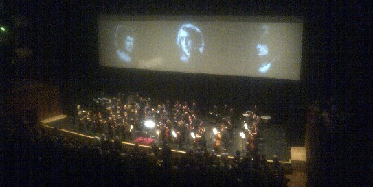 Carl Davis and the Philharmonia Orchestra take their bow