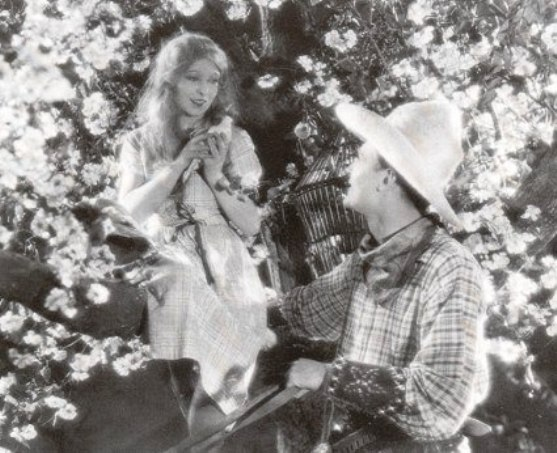 Annette Benson and Brian Aherne in Shooting Stars (1928)
