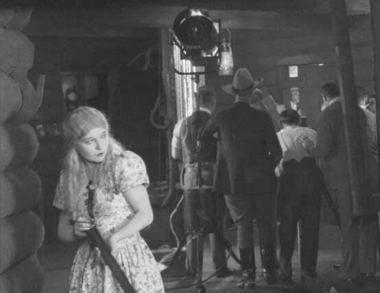 Annette Benson with gun in Shooting Stars (1928)