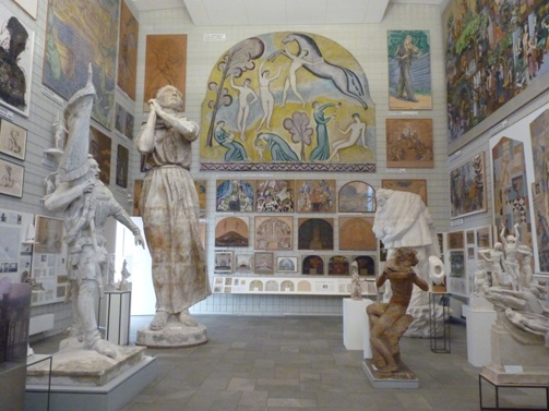 Exhibits in the Swedish Hall, part of of Skissernas, or the Museum of Public Art, Lund, Sweden