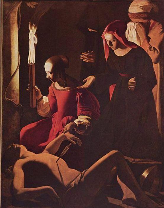 Georges de la Tour, 'St Sebastien Attended by St Irene', c.1650, https://en.wikipedia.org/wiki/Gemäldegalerie