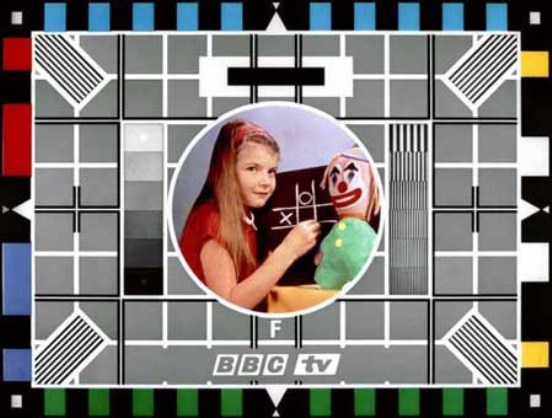 Carol Hersee on a BBC testcard