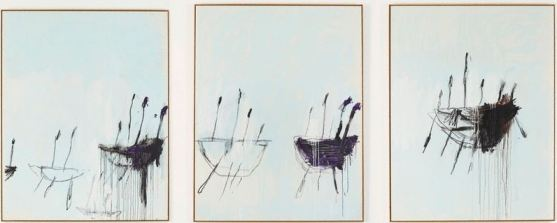 Cy Twombly, 'Three Studies from the Temeraire', 2998-99, Art Gallery of New South Wales