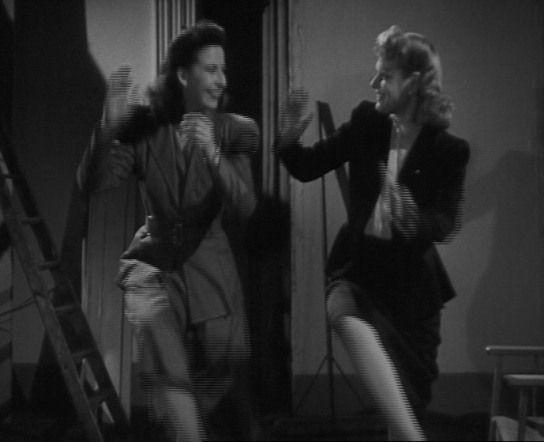 Wendy Toye (left) teaching Anna Neagle to dance boogie woogie on the set of Piccadilly Incident (1946), from Personality - Meet Anna Neagle, available at www.britishpathe.com