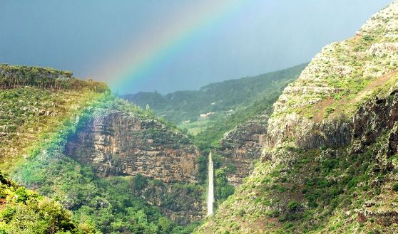 Heart-Shaped Waterfall, St Helena