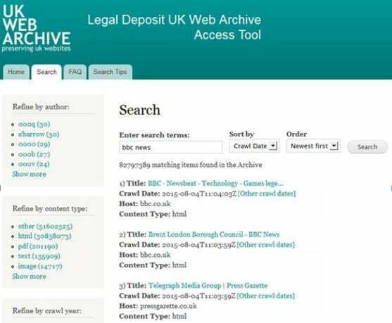 Legal Deposit UK Web Archive